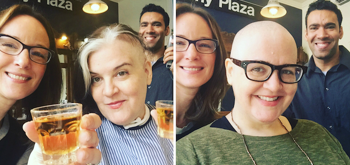 A head shave, cancer, chemo