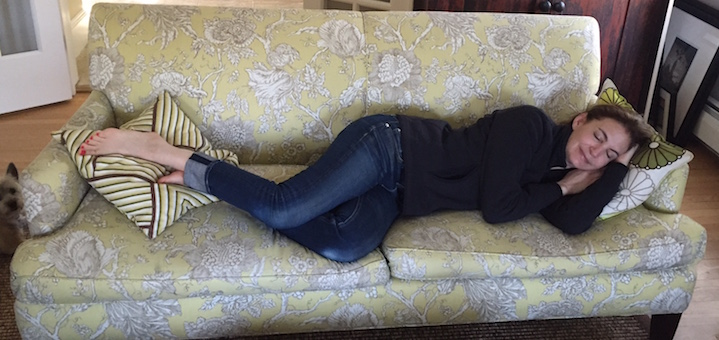 tuenight sleep yellow couch amy barr