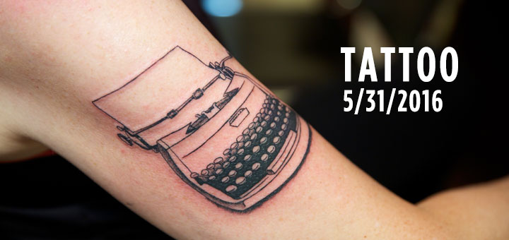 tuenight tattoo susan goldberg typewriter