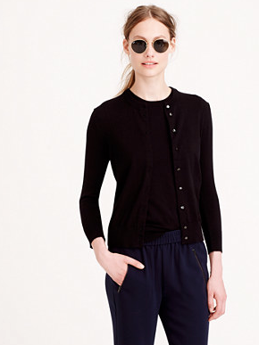 "The J.Crew ""Jackie"" Cardigan. A classic."